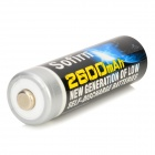 Sofirn 1.2V 2600mAh Ni-MH Rechargeable AA Batteries - Blue + Black (2 PCS)