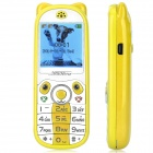 "K18 Mini Cute GSM Kid's Phone w/ 1.44"" Screen, Quad-band, Bluetooth Dial, SOS, Positioning - Yellow"