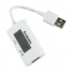 LCD Display USB Multi-function Charging Head - White