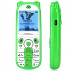 "K18 Mini Cute GSM Kid's Phone w/ 1.44"" Screen, Quad-band, Bluetooth Dial, SOS, Positioning - Green"