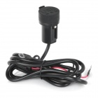 DIY Motorcycle Dual-USB Power Charger Adapter w/ Water Resistant Cover for GPS / Cell Phone
