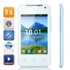 "H-Mobile F1 Android 4.2 GSM Bar Phone w/ 3.5"" Screen, Quad-band, Wi-Fi and GPS - White + Light Blue"