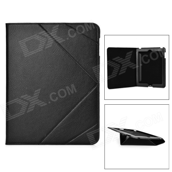 CAPAL FR-2 Protective Flip-Open Leather Case Cover for 9.7 IPAD 2 / 3 / 4 - Black