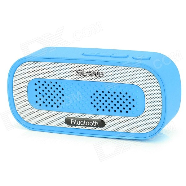 SLANG Q3 3W Bluetooth V3.0 Multifunctional Speaker w/ FM / Micro USB / TF / USB / 3.5mm - Light Blue sdy 021 wireless bluetooth v3 0 speaker w fm tf micro usb usb alarm clock black silver
