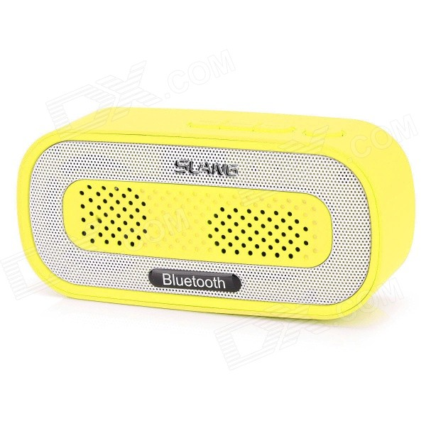 SLANG Q3 3W Bluetooth V3.0 Multifunctional Speaker w/ FM / Micro USB / TF / USB / 3.5mm - Yellow sdy 021 wireless bluetooth v3 0 speaker w fm tf micro usb usb alarm clock black silver