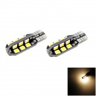 HONSCO T10 2W 100lm 3000K 24-2835 SMD Warm White Side LED / Lámparas de Lectura (2 PCS / DC 12V)