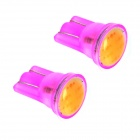 ZnDiy-BRY T10 1W 70lm 6-COB Purple Light Car Instrument Lamp / Reading Lamp - Purple (12V / 2 PCS)