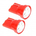 ZnDiy-BRY T10 1W 70lm 6-COB Red Light Car Lámpara Instrumento / lámpara de lectura - Red (12 V / 2 PCS)