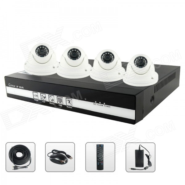 SANNCE NVR6004 + IPC3F19P-I3X4 4-CH POE NVR & 4 x 720P 1.0MP IP Cameras Security System (NTSC) покрывало arloni arloni mp002xu00ztn
