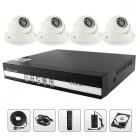 SANNCE NVR6004 + IPC3F24P-I3X4 + 4CH POE NVR & 720P 1.0MP IP Cameras Security System w/ 1TB HDD