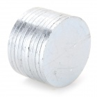 SZGAOY 14081903 N38 NdFeB Round Magnets - Silver (10 PCS)