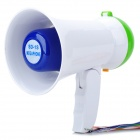 Handheld Bull Horn Loud Speaker - Green + White