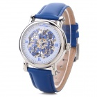 ST.PATRICK FI-201 Women's Leather Band Analog Self-Winding Mechanical Wrist Watch - Blue