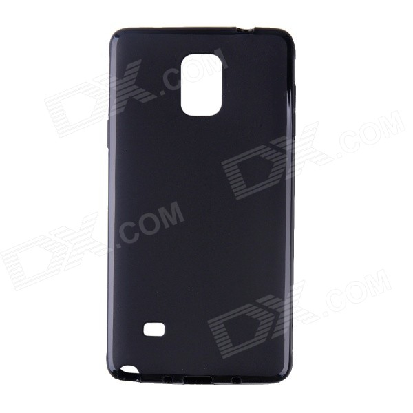 Protective TPU Back Case for Samsung Galaxy Note 4 - Black 2 in 1 detachable protective tpu pc back case cover for samsung galaxy note 4 black