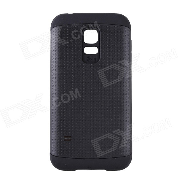 Fashionable Armor Style Protective PC + Silicone Back Case for Samsung Galaxy S5 Mini - Black 8x zoom telescope lens back case for samsung i9100 black