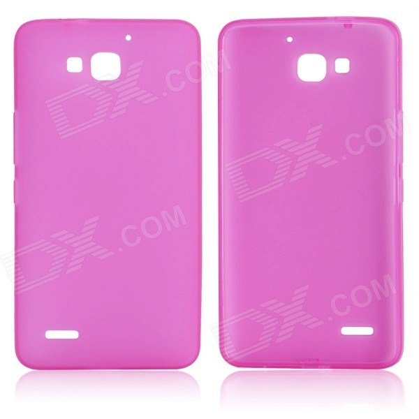 DF-001 Protective TPU Case w/ Anti-dust Plugs for Huawei Honor 3C - Deep Pink