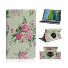 Sweet Floral Print PU Leather Case for Samsung Galaxy Tab S 8.4 T700 - Multicolored