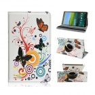 Sweet Butterfly Pattern PU Leather Case for Samsung Galaxy Tab S 8.4 T700 - Multicolored