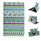 Tribal Lines 360 Degree Rotation PU Leather Case Stand for Samsung Galaxy Tab S 8.4 T700 - Green