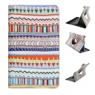 Tribal Lines 360 Degree Rotation PU Leather Case Stand for Samsung Galaxy Tab S 8.4 T700- Light Blue