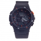 OHSEN AD1303 Men's Analog + Digital Display Waterproof Wristwatch - Black + Orange (1 x CR2025)