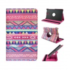 Tribal Lines 360 Degree Rotation PU Leather Case Stand for Samsung Galaxy Tab S 8.4 T700 - Deep Pink