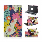 Flower Pattern PU Leather Case w/ 360' Rotate Back for Samsung Galaxy Tab S 8.4 T700 - Multicolored