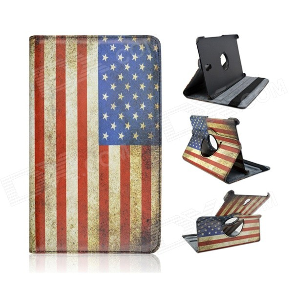 Vlag Amerikaanse National Style 360 ​​'Rotary PU Leather Flip Open Case voor Samsung Galaxy Tab 8.4 S T700