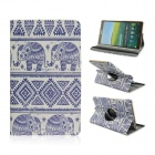 Patterned PU Leather Case w/ 360' Rotate Back for Samsung Galaxy Tab S 8.4 T700 - Multicolored