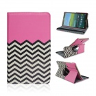 Wave Pattern 360 Degree Rotation PU Flip Open Case w/ Stand for Samsung Galaxy Tab S 8.4 T700
