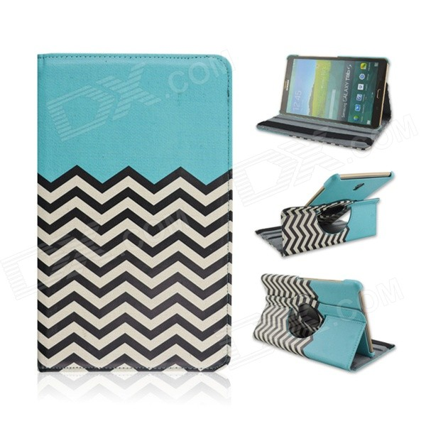 Wave Pattern 360' Rotary PU Leather Flip Open Case w/ Stand for Samsung Galaxy Tab S 8.4 T700 uk flag pattern 360 rotary protective pu case w stand for samsung galaxy tab s 10 5 t800