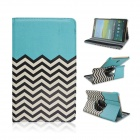 Wave Pattern 360' Rotary PU Leather Flip Open Case w/ Stand for Samsung Galaxy Tab S 8.4 T700