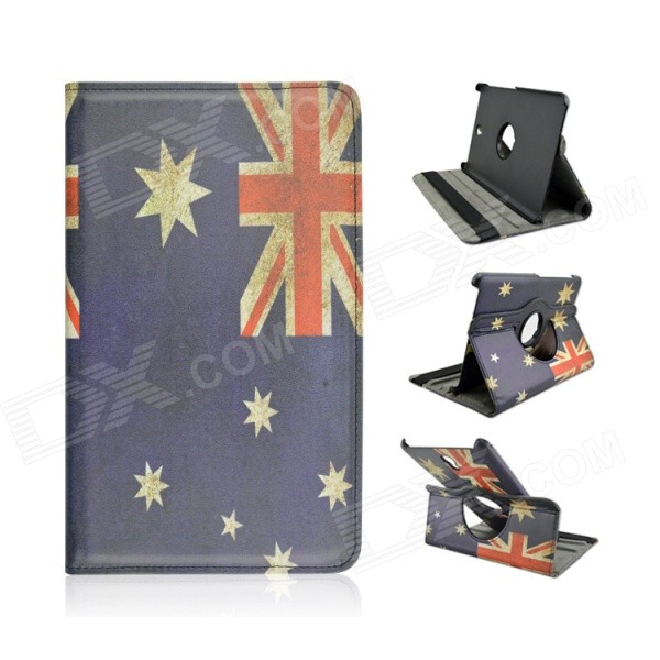 Australia National Flag Pattern 360' Rotary PU Flip Open Case for Samsung Galaxy Tab S 8.4 T700