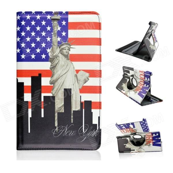 US National Flag & Statue of Liberty Pattern PU Flip Open Case for Samsung Galaxy Tab S 8.4 T700 graffiti us national flag style statue of liberty pattern tpu case for sony xperia z1 blue red