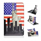 US National Flag & Statue of Liberty Pattern PU Flip Open Case for Samsung Galaxy Tab S 8.4 T700