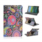 Stylish Cartoon Pattern PU Leather Case for Samsung Galaxy Tab S 8.4 T700 - Multicolored