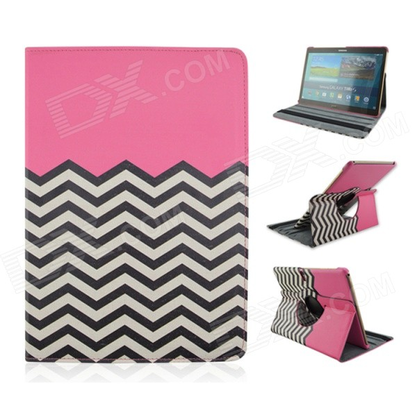 Wave Pattern 360' Rotary PU Leather Flip Open Case w/ Stand for Samsung Galaxy Tab S 10.5 T800 uk flag pattern 360 rotary protective pu case w stand for samsung galaxy tab s 10 5 t800
