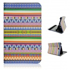 "Tribal Pattern Flip-open PU Case w/ Holder for 7"" Samsung T230 Galaxy Tab 4 T230 - Multicolored"