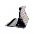 "Motif tribal Flip-ouverte Case PU w ​​/ Support pour 7 ""Samsung Galaxy Tab T230 T230 4 - multicolore"