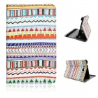 "Tribal Pattern Flip-open PU Case w/ Holder for 7"" Samsung T230 Galaxy Tab 4 - Multicolored"