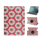 Flower Pattern Protective PU Case w/ Stand for Samsung Galaxy Tab S 10.5 T800 - Red + Multicolored