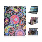 Cartoon Drawing Pattern PU Case w/ Stand for Samsung Galaxy Tab S 10.5 T800 - Multicolored