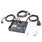 CHEERLINK USB 2.0 + USB 3.0 + HD Audio Chasis de unidad óptica del panel frontal w / 3,5 mm Cable AV