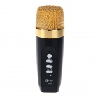 S170 3.5mm Plug Metal Microphone w/ Recording Function for IPHONE Samsung HTC KTV Singing - Black