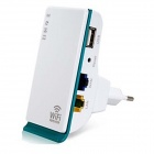 Mini Portable Wall Mount EU Plug 150Mbps Wireless-N Repeater Range Extender Wi-Fi Signal Booster