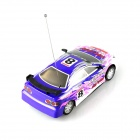 B001-1 1:18 4-CH R/C Sports Car Model Toy w/ Remote Cotroller - Blue + Pink + Multi-colored