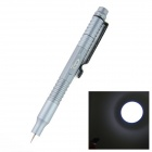 OUMILY New Outdoor Aluminum Alloy Tactical Defense Writing Pen w/ White LED Strong Light - Dark Grey