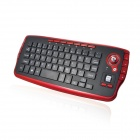 2.4GHz Wireless Trackball tastatur og mus minn Svart + Red