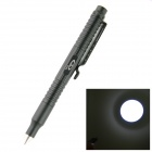 OUMILY New Outdoor Aluminum Alloy Tactical Defense Writing Pen w/ White LED Strong Light - Black
