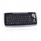 2.4GHz Wireless Trackball Keyboard and Mouse Set - Black + Silver